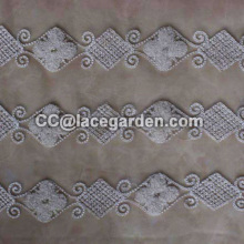 Chain Embroidery Making in Polyester Material