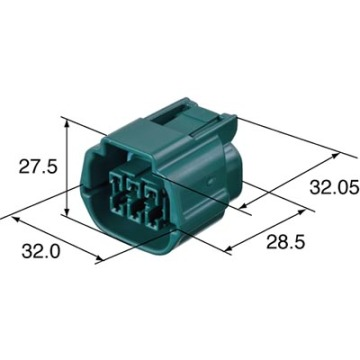 Sumitomo 6189-7760 6p Female Water Proof Auto Connector