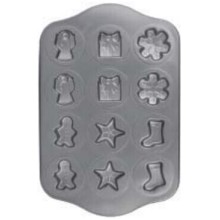 12 cavidade antiaderente Chrismas Cookie Pan