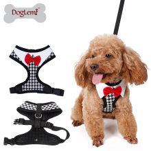 ? Moda Elegante Peppita Design Soft Mesh Dog fácil caminar arnés