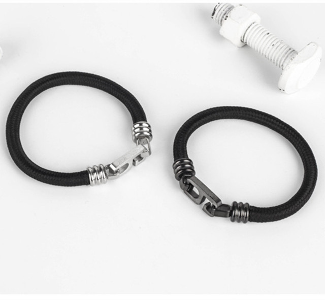 Mens Number Six Shaped Stainless Steel Metal Bracelet