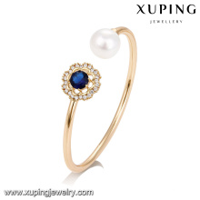 51737 Xuping latest design jewelry, fashion Pearl bangle with artificial gemstone