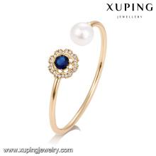 51737 Xuping últimas jóias de design, pulseira de pérola de moda com pedra preciosa artificial