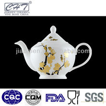 A057 gold winter-sweet decorative ceramic chinese teapot design
