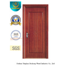 Porta simples do estilo do MDF para o quarto sem vidro (xcl-035)