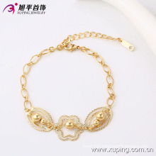 Xuping Elegant 18k Gold-Plated Bead Imitation Jewelry Bracelet (74166)