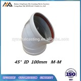 Die casting 45 degree 90 degree aluminum elbow with O-ring