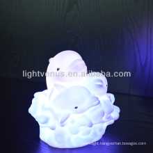 BSCI certified manufactuer Color change like rainbow and kids friend Dolphin LED Night Light