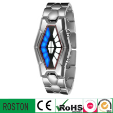 Relógio de pulso serpentino do diodo emissor de luz com RoHS, CE, FCC