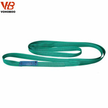 2 ton green double ply polyester webbing sling