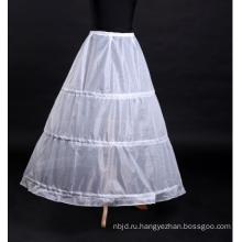 Белое вечернее свадебное платье юбка нижняя юбка с 3 обручами слои Паффи Кринолин для новобрачных