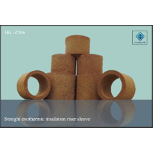 Riser sleeve straight insulation exothermic