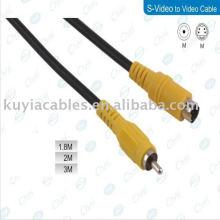 5FT s-Video zum Komponentenkonverter RCA Kabel Composite Adapter Konverter