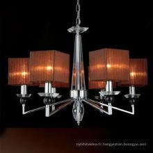 Lustre en cristal de dessus de fer moderne pour la décoration à la maison