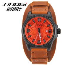 Marca de lujo de los hombres de los relojes 2015 SINOBI, compra occidental del bulto del reloj de China