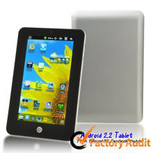 7 Inch Scroll Tablet Pc Lcd Android 2.2 Touch Screen 256m / 2g With External 3g