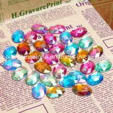 Siam Ab/Blue Ab/Orange Ab Colors Plastic Bead Sew on Acrylic