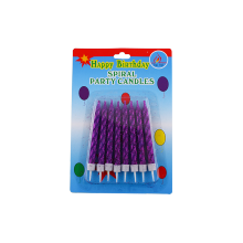 Spiral berwarna Sparkler Paraffin Wax Birthday Lilin