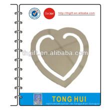 Metall Lesezeichen mit Silber Herz Design
