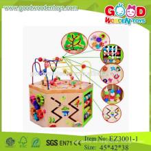 Niños perlas juguetes educativos cuerda perlas juguetes madera perlas de cadena juguetes