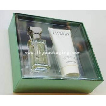 High Quality Perfume Packaging Paper Box with Plastic Window and PVC/Pet Cover