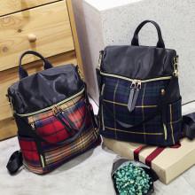 Customized Made lattice pattern Lady double shouder Bag