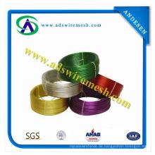 Alle Farbe / PVC beschichtet Eisen Draht für Kette Link Zaun