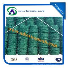 Fabricante do arame farpado revestido do PVC do preço de fábrica (20 anos de fábrica)