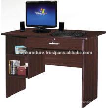 Table d'ordinateur en bois avec serrure et tiroir