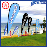 BV and SGS Approved Advertisement Flying Banner, Hot Outdoor Feather Flag, Beach Flags
