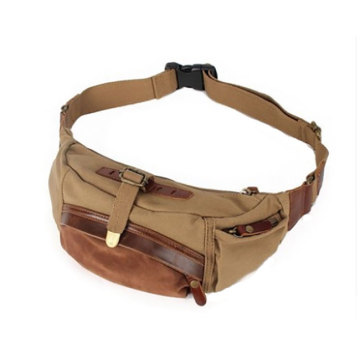 Hombres Tactical Canvas Army Fanny Pack bolso de cintura
