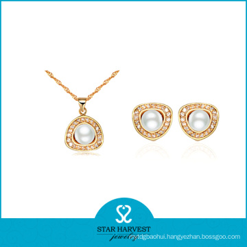 Wedding Gold Plated Fashion Silver Jewellery Set (J-0064)