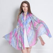 Cómoda y suave de seda Paj Tie-Dyed bufanda