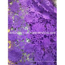 100% Polyester Materialien Spitze Stoff für Frauenkleid