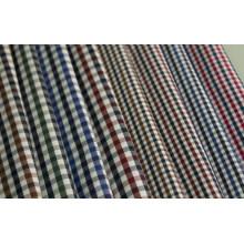 Varios cheques Sarga camisas de tejido de poliéster de algodón 40 60
