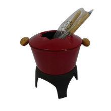Gang đúc tráng men Cheese fondue thiết lập