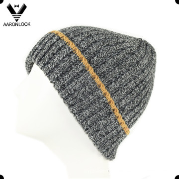 2016 Men′s Winter Acrylic Melange Knitted Cuff Beanie
