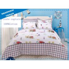 3 piezas de algodón edredón de cama con cubierta (set)