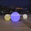 impermeable inalámbrico recargable Chrismas plástico bola de adorno / led resplandor piscina bola