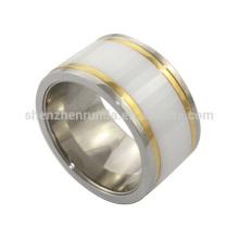 Venda por atacado de produtos quentes IP ouro anel de aço inoxidável homens anéis jóias