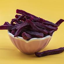 Heiße Verkaufsnahrung und köstliche lila Süßkartoffel