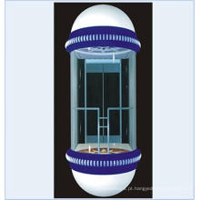 Elevador panorâmico panorâmico com cabine de vidro