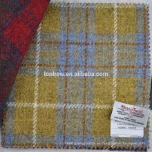 Con la etiqueta Harris Tweed amarilla, verifique el tejido de lana 100% virgen