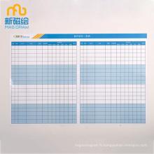 Tableau de planification de programme d'effacement à sec magnétique