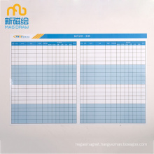 Magnetic Dry Erase Schedule Planner Board