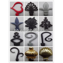 Plastic curtain rod finial,market in Saudi Arabia,paper coated finial