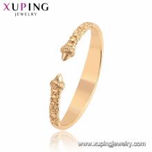 Pulseiras especiais do projeto da forma da jóia de 52091 Xuping com o ouro 18K chapeado