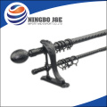 black paint curtain rod, extendable curtain pole, decorative metal finial, home decoration