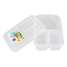 2016 Nouveau Design Transparent 3 Composant Grille Lunch Box Container Set
