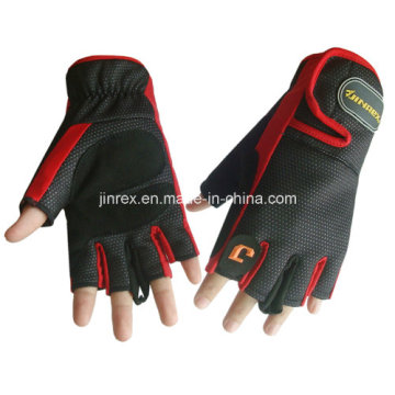 Gym Cycling Half Finger Sports Padding Glove